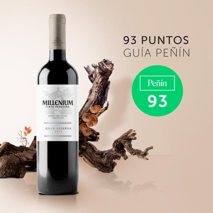 """Tinto Pesquera Millenium Gran Reserva 2015 ha destacado por """"su aroma frutal con toques a madera, que muestra en boca un paso amplio, carnoso y largo con una estructura tánica redonda y persistente"""""""